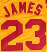 LeBron James #23 Cleveland Throwback Yellow Basketball Jersey