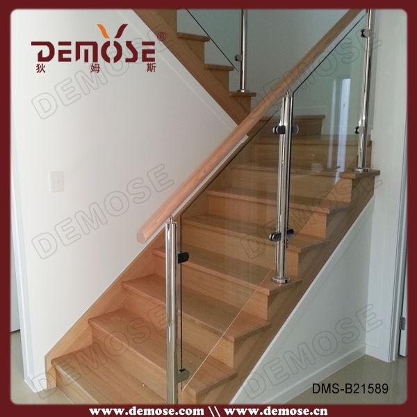 Treppengeländer Holz Und Glas ~ edelstahl glas treppengeländer Holz handlauf dms b21589 Brüstung und