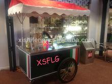 ice cream popsicle display for sale/ice cream cart