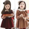 Wholesalespecials 2014 nueva de mujer deinvierno ropa deinvierno coreano gruesa larga- manga vestido de bebé niño qz-1119 niño