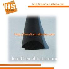 Black Expanded EPDM / sponge rubber D section