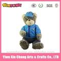 Custom car-logo plüsch-teddybär tragen jacke