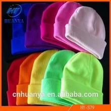 Fluorescent Color Line Men and Women Hip-hop BBOY Knit Cap