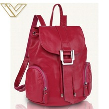 Fashion cowhide leather material backpack leather for lady factory wholesale