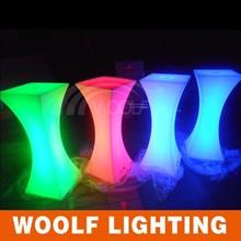 led liquid light up cube bar table