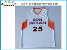 High quality and comfortable sublimated custom basketball tops