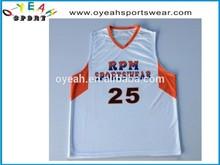 High quality and comfortable sublimated custom basketball tops