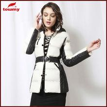 black white winter down jacket women winter apperal coat