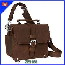 Leather tablet bag,soft leather camera bag, vintage leather camera bag