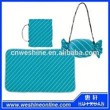 Fashion candy bag polyester blanket stripe printing fleece blanket