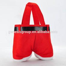 2014 Hot Sell Santa Claus Pants Christmas Candy Bag