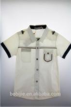 custom cotton short sleeve casual white children polo shirt kids wears (S3130)