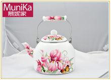 Enamel-on-Steel large Tea Kettle 5L, Ceramic steel big teapots & Cast iron induction tea kettle on gas stove