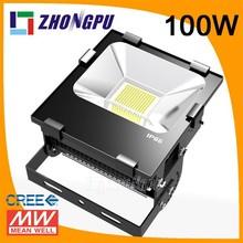 400w led flood light bar 100w