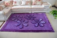 Commercial Microfiber Decorative Room 300D Silk 3D Shaggy Baby Carpet