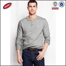 long sleeve tee with button mens t cheap shirt wholesale