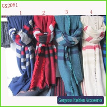 2014 Za Collection Wrapround Striped Scarf Oversized Blanket Shawl