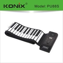 USB Midi Flexible Roll Up Piano 88 Keys Electronic Silicon Keyboard Portable
