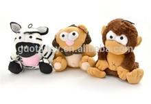 Custom plush zoo animal set toys for kids