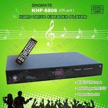 Hard Disk KTV karaoke player with HD ,Support VOB/DAT/AVI/MPG/CDG/MP3+G songs ,select songs ,Insert COIN