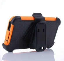 New arrival standing cover phone case for samsung galaxy S5 with black clip