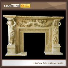 China wholesale high quality french style wood fireplace mantel