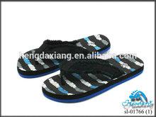 Cotton Fabric upper soft EVA outsole beach flip flops
