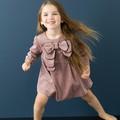 Mais recente baby girl boutique roupas meninas moda outono vestidos de veludo reino unido