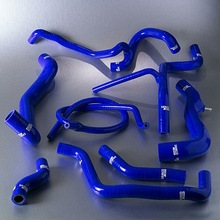 Eclipse 1G GSX/T 4G63T silicone radiator&heater hose kit BK (Fits: Mitsubishi)