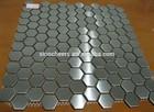 Interior Silver Glossy Square Metal Stainless Steel Backsplash Mosaic Tiles