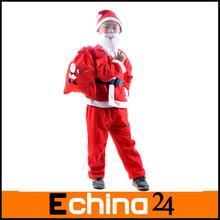 5 pcs crianças do traje de papai noel natal Cosplay roupas pai terno X'mas para crianças