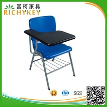 Modern Strong Classroom Furniture Chair with Attached Writing Table