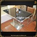 304 açoinoxidável mesa de jantar com vidro