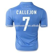Wholesale Napoli 2014/15 home blue HIGUAIN HAMSIK CALLEJON football jersey soccer uniform Top Thailand quality