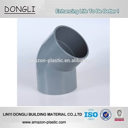 Factory price pvc plumbing pipe fittings 45 degree pvc elbow