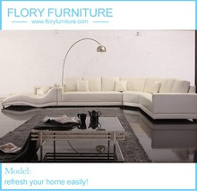 Italian sectional leather sofa F894