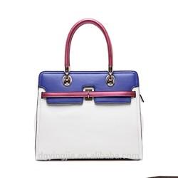 ( FW006)Vintage PU Ladies Handbag Fashion Women Bag Double Handle Bag