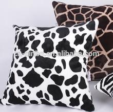 2014 Xinbo animal skin print coral fleece cushion cover