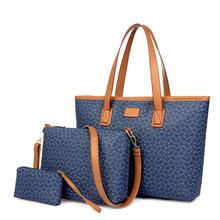 Hot Selling Women Simple Designer Shoulder Bag Vintage Simple Style Ladies Leather Handbags Tote Big Bags +middle bag+ Coin Pur