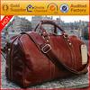 large capacity fashionable leather travel bag duffle bag