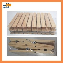 8549D Natural Color Wooden Clothes Pegs