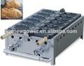2014 électrique en acier inoxydable de poisson cake maker, forme de poisson wafffe producteur, mélange à gaufres