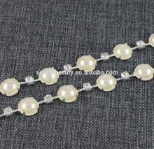 New Arrival:boutique pearl crystal rhinestone chain garment accessory