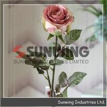 Sunwing cheap wholesale Artificial velvet rose flower, decorative artificial flower, decorative artificial flower garland