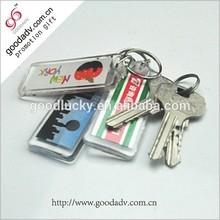 Super popular!high quality chrismas gift blank acrylic keyrings