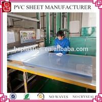 Reach certificate 3x6 feet screnn printing transparent pvc sheets/pvc clear sheet