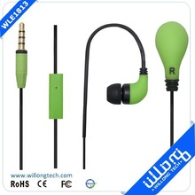 High quality silicone earphone rubber cover with microphone