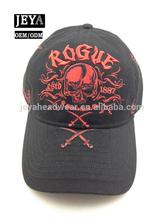 Red black Washed cotton embroidered baseball cap trendy velcro men baseball sport hat cap