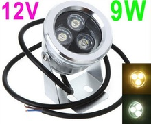 IP68 9W 12V Underwater LED Floodlight Landscape Light Fountain Pond Lamp Bulb White/warm White