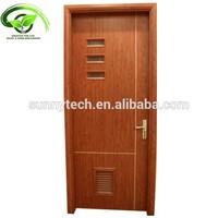 WPC wood plastic composite door with pvc film coated